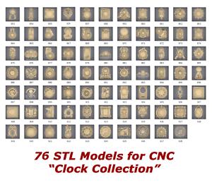 76-3d-STL-Models-034-Clock-Collection-034-for-CNC-artcam-3d-printer-aspire