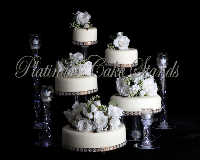 STYLE R805 4 TIER WEDDING CAKE STAND WITH FOUNTAIN ANDY CANDLED VOTIVE SET