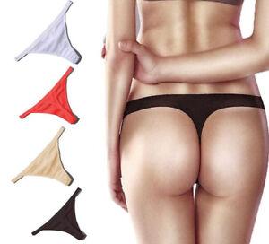4f0ba1c1e03 Women 100% Cotton G-String Thongs Panties Sexy T-back Underwear ...