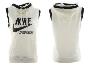 Nike-Womens-NSW-Sleeveless-SL-Archive-Hoodie-855705-133-Cream-Black