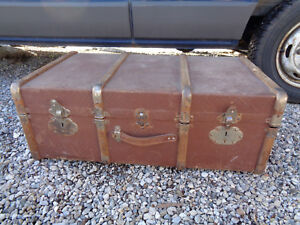 Antique-Box-Trunk-Travel-Wood-Vintage-Retro-Art-Deco-Fashion-1930-Shirt