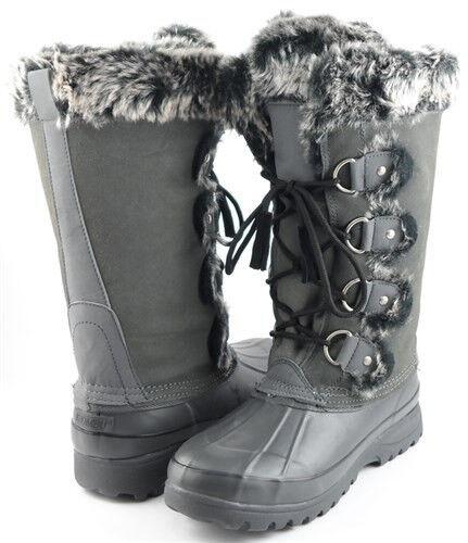 vendita outlet KHOMBU ARCTIC grigio Fur Trim donna Designer scarpe Winter WaterProof WaterProof WaterProof stivali Warm  promozioni