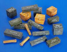 Plus model 18 Munitionsboxen Kisten Wehrmacht Modell-Bausatz mit Decals 1:48 kit