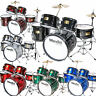 'Mendini 5 pcs Child Junior Drum Set +Cymbal+Throne ~Black Blue Red Green Silver' from the web at 'https://i.ebayimg.com/images/g/bnkAAOxyVaBSyxSG/s-l96.jpg'