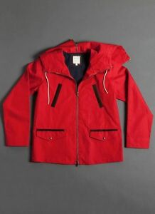 Pre-owned-Billy-Reid-Red-Navy-hoodie-Anorak-595-XL