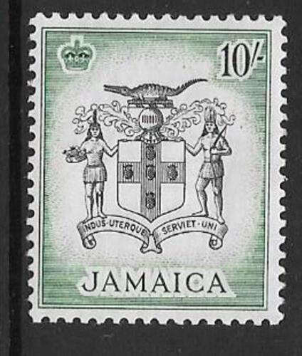 JAMAICA SG173 1956 10 BLACK & BLUE GREEN MNH