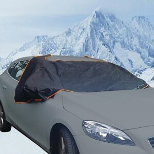 Car-Windsheild-Frost-Ice-amp-Winter-Protection-Magnetic-Windscreen-Cover-BLACK