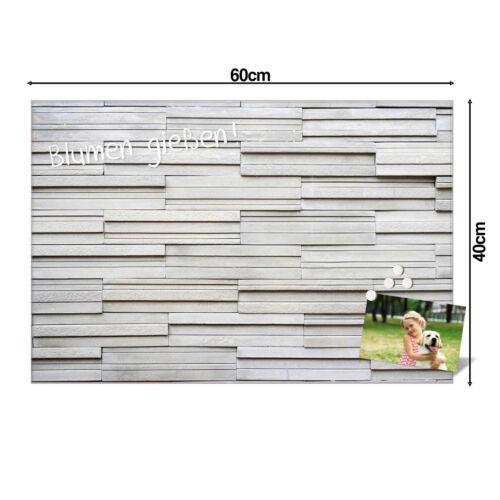Größen Motiv Relief banjado Glas Magnettafel m 4 Magneten Memoboard versch