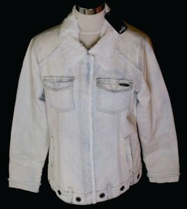 Bnwt Sherpa Rrp£89 Stretch Large Coat Denim Women's Jacket Oakley Fur Lined Uk14 4rPqvx4tw1