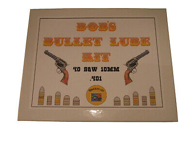 Sporting Goods Bob's Bullet Lube Kit 40 S&w 10mm .401~.404 Beautiful In Colour