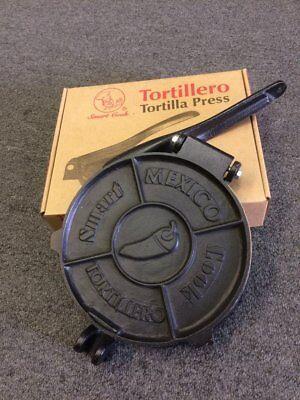 Bread Heavy Gauge Manual Restaurant Cast Iron Flour Corn Tortilla Press Maker for Pizza Aluminum Tortilla Press 7.8 Inch