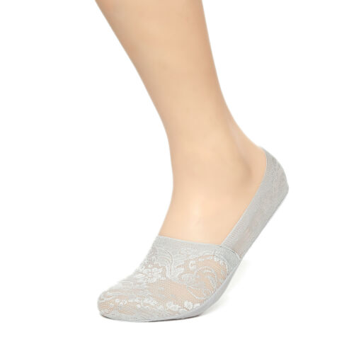 Gelante Women/'s No Show Invisible Low Cut Lace Anti-skid Socks 6 Pairs Wholesale