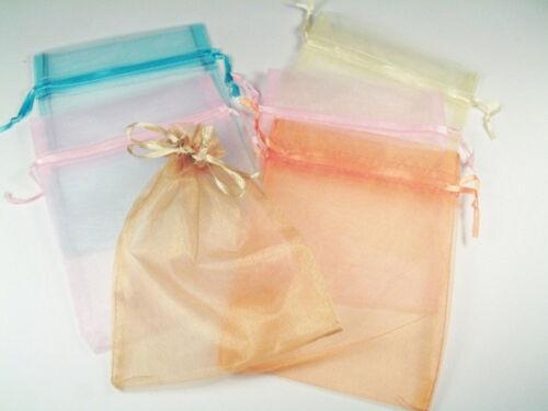 Organzabeutel Mix pastellfarben 12 x 15cm 6St Schmucksäckchen