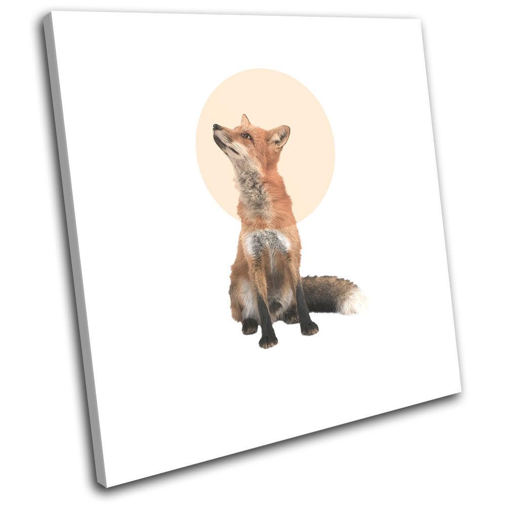 Fox Forest Modern Abstract Animals arte SINGLE LONA pared arte Animals Foto impresion f92314