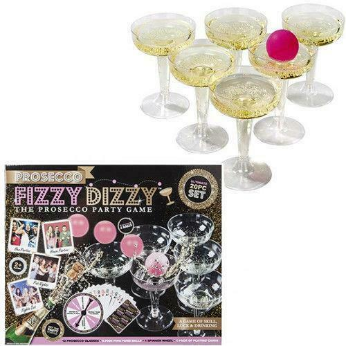 NEW FIZZY DIZZY PROSECCO PING PONG 20 PIECE SET ADULTS PARTY DRINKING GAME