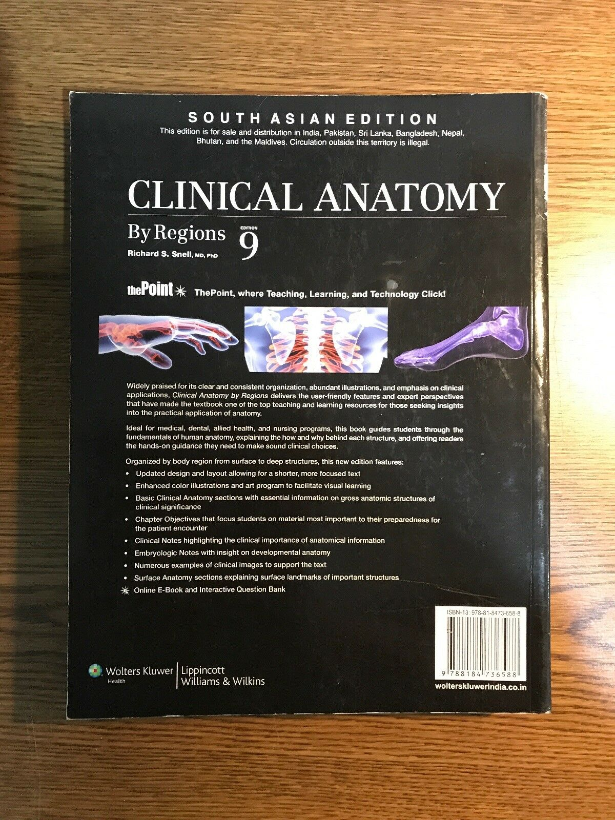 Buy Clinical Anatomy By Richard S Snell 2011 Paperback Revised