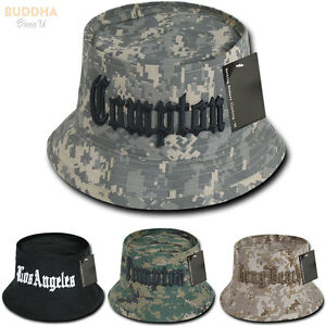 e025023c5b4 1 Dozen COMPTON LOS ANGELES LONG BEACH Fisherman Bucket Hats Cotton ...