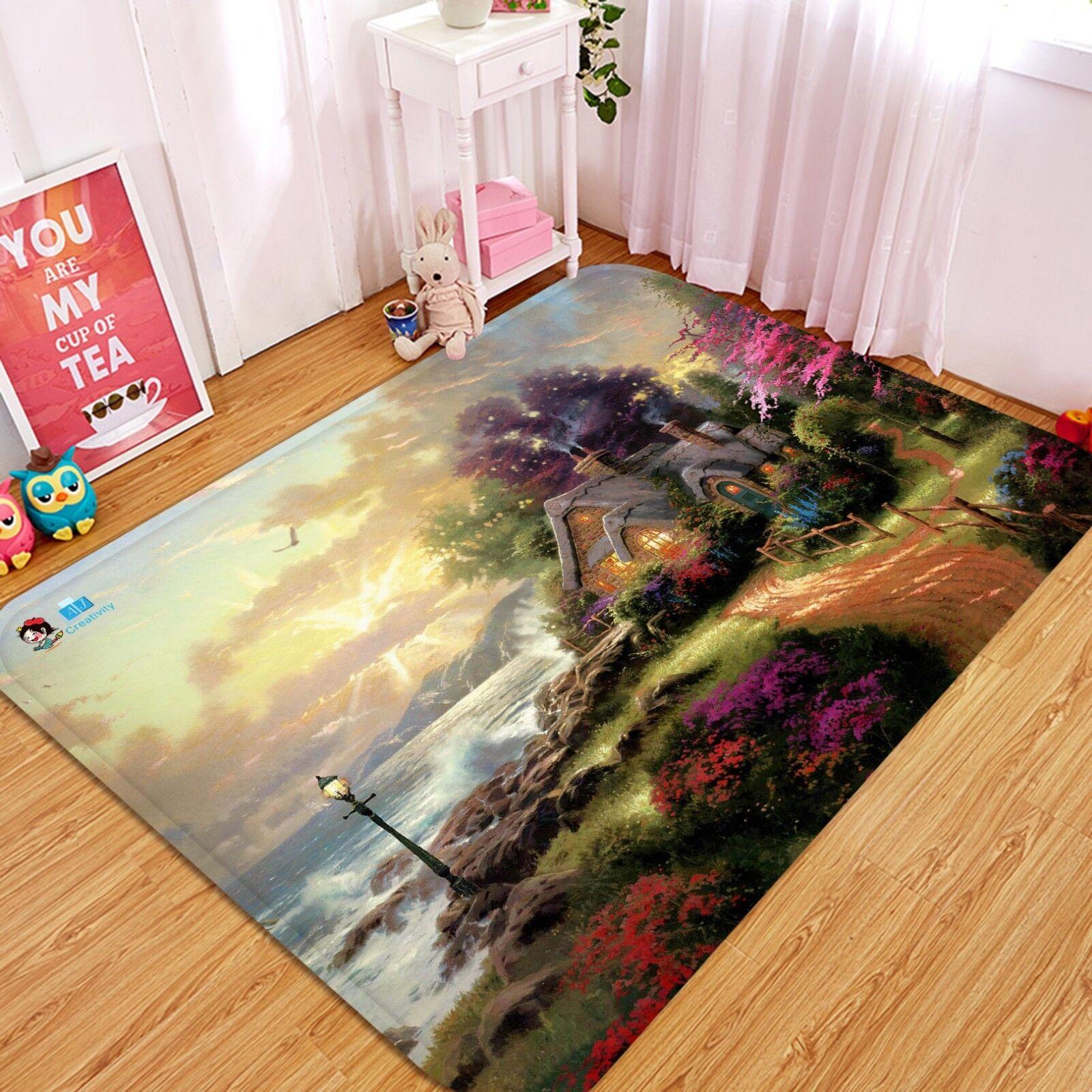 3D Fairy Tale Houses68 Non Slip Slip Slip Rug Mat Room Mat Quality Elegant Photo Carpet US 2dff63