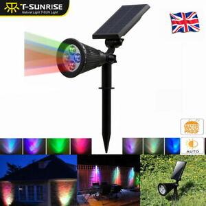 Solar-Powered-4LED-Multicolor-Spotlight-Waterproof-Outdoor-Garden-Yard-Light