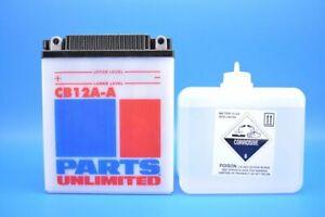 Parts Unlimited 12V Heavy-Duty Battery Kit YB12A-A 2113-0172