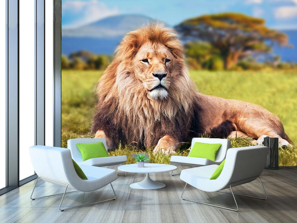 3D Huge lion 33 Wall Paper Print Wall Decal Deco Indoor Wall Murals
