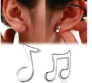 1-Paar-Ohrstecker-Noten-Ohrringe-Musik-Style-silber-suess-music-notes-Damen-neu
