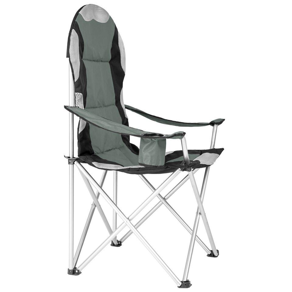 Polstret campingstol grå