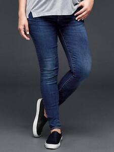 a4ed4db01728b ❤️1969 Gap Womens Maternity Resolution True SKINNY Jeans Full Panel Sz 2 R