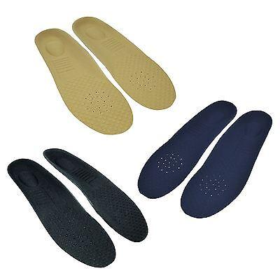 1 X Coppia Unisex Ultra Memory Foam Orthotic Solette Per Scarpe Trainer Blu Nero Beige-mostra Il Titolo Originale Diversificato Nell'Imballaggio
