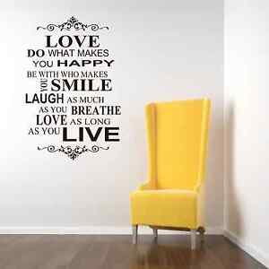 Live Love Laugh Quotes Captivating Live Love Laugh Family Smile Happy Art Wall Quotes  Wall Stickers