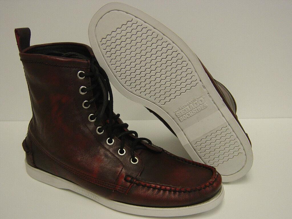 Nuevo Para Hombre Talle 8.5 Sebago Faro b10243 Docksides petardo Rojo botas Zapatos