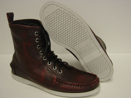 NEW Mens Sz 13 SEBAGO Lighthouse B10243 DOCKSIDES Firecracker Red Boots Shoes