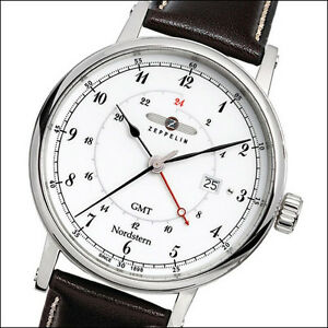 3e21868befc Image is loading Graf-Zeppelin-Nordstern-Dual-Time-GMT-Watch-Red-