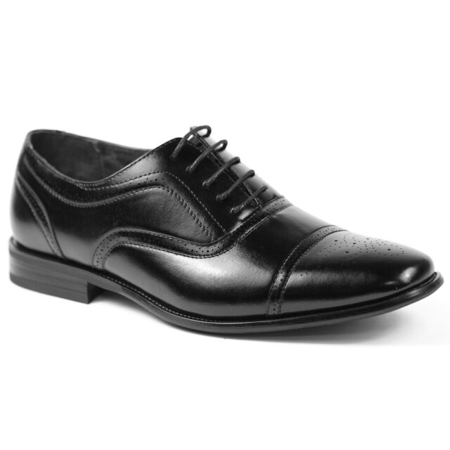 Delli Aldo Mens Lace Up Cap Toe Oxford Dress Shoes w/ Leather lining M-19006