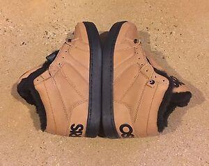 Osiris-Convoy-Mid-Shearling-Size-5-US-Brown-Work-BMX-DC-MOTO-Skate-Shoes