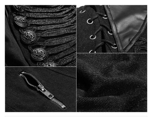 Jacket Punkrave Baroque ricamo Gothic Military Officer Jeans Giacca Pulsante wFqRUz