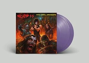 DEATH-SS-ROCK-039-N-039-ROLL-ARMAGEDDON-VINYL-COLOR-VIOLET-POSTER-2-LP-NUOVO