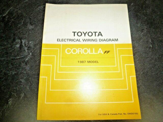 1987 Toyota Corolla Ff Electrical Wiring Diagrams Manual