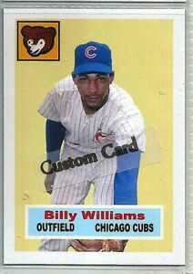 BILLY WILLIAMS CHICAGO CUBS 1956 STYLE CUSTOM MADE BASEBALL CARD BLANK BACK