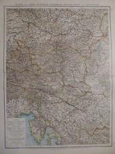 Landkarte Nieder- und Ober - Österreich, Steiermark, Lithographie, Andrees 1897