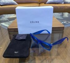 fe9654031c5 CELINE EDGE CL 41468 S GEG TR BLUE Grey Lens WOMEN SUNGLASSES 51mm Made In