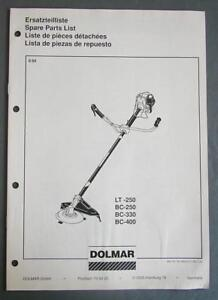 1989-Dolmar-Line-Trimmer-Parts-List-LT-250-BC-250-BC-330-BC-400-Eng-Fr-Gr-Sp