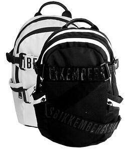 Zaino-Bikkembergs-Db-Strap-2-0-Nero-Backpack-apertura-zip-spallacci-imbottiti-u
