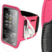 Pink Anti-Rutsch Armband Reflektierende für Sony Walkman NWZ-E585 & E384 Jogging