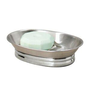 Bar Holder Tray for Bathroom Counter, InterDesign Royal Rectangular Soap Saver