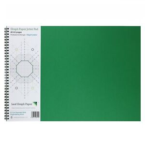 A3 Graph Paper 1mm 0.1cm Squared Engineering, 60 Page Jotter, Grey Grid, 100gsm