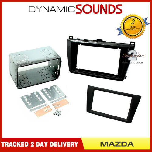 Doble Din Fascia Panel Adaptador Para Mazda 6 2011-2013 Negro Piano CT23MZ10