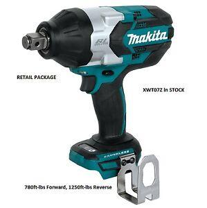 "Makita XWT07Z 18V 3/4"" Hog Ring Impact Wrench 780 ft-lbs Forward, 1250 Reverse"
