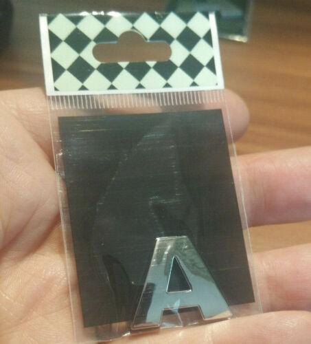 7 Zeichen 3D Chrom Buchstaben 2cm Chrombuchstaben Aufkleber z.B LIMITED
