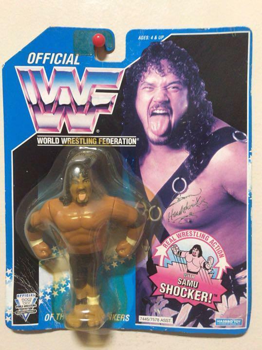Hasbro WWF Wrestling SAMU SHOCKER Figure Unopend THE HEAD SHRINKERS  11872